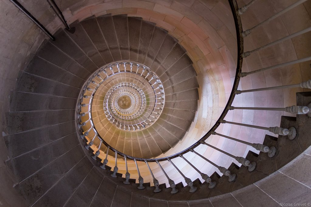 Baleines lighthouse spiral staircase