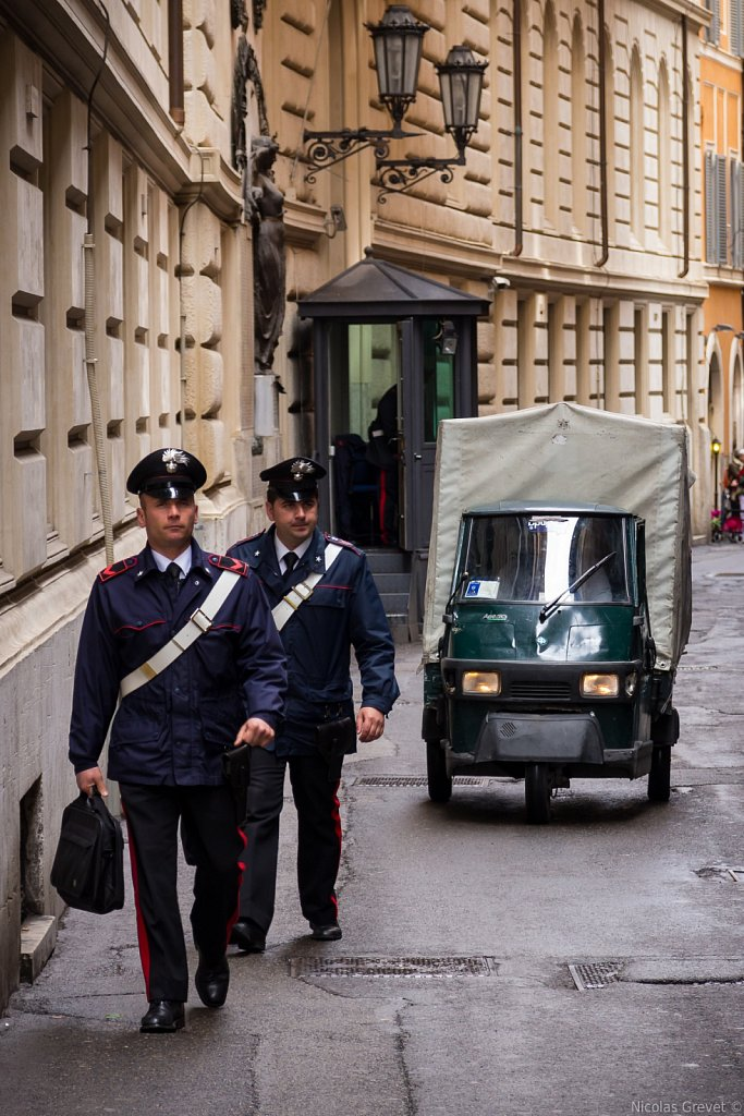 Patroling the Piazza di Sant'Ignazio