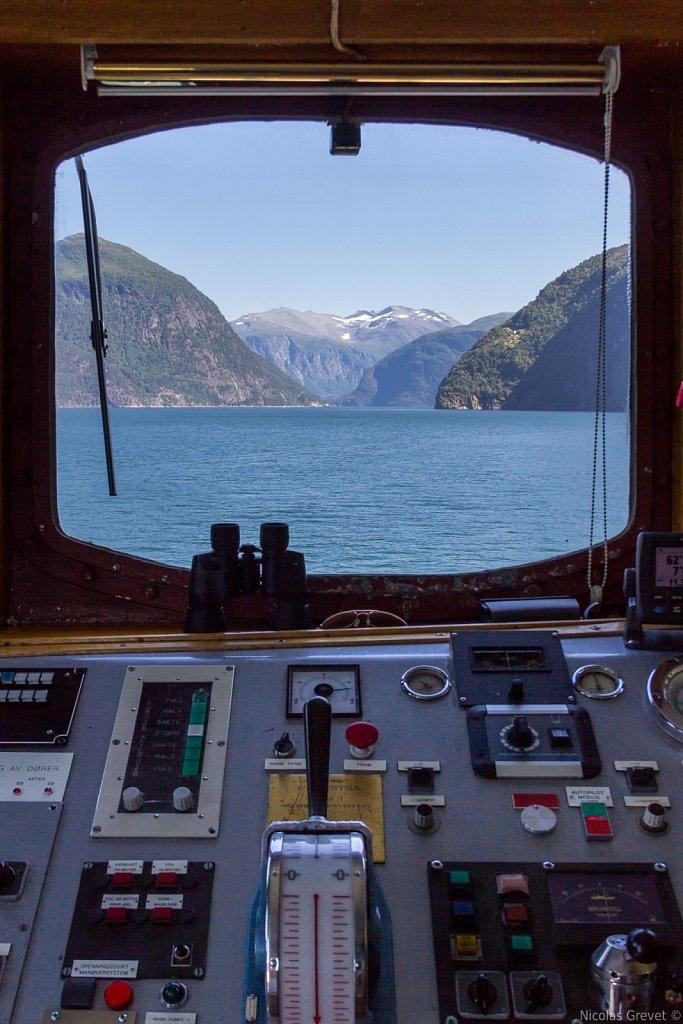 Storfjorden fjord from the captain's eyes