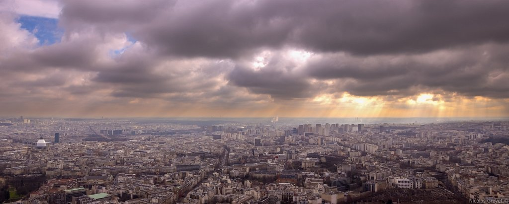 Storm clouds over Paris