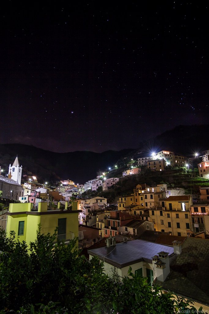 Riomaggiore under the stars