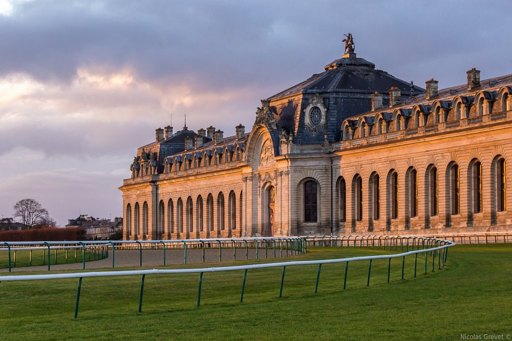 Chantilly Grand Stables sunset