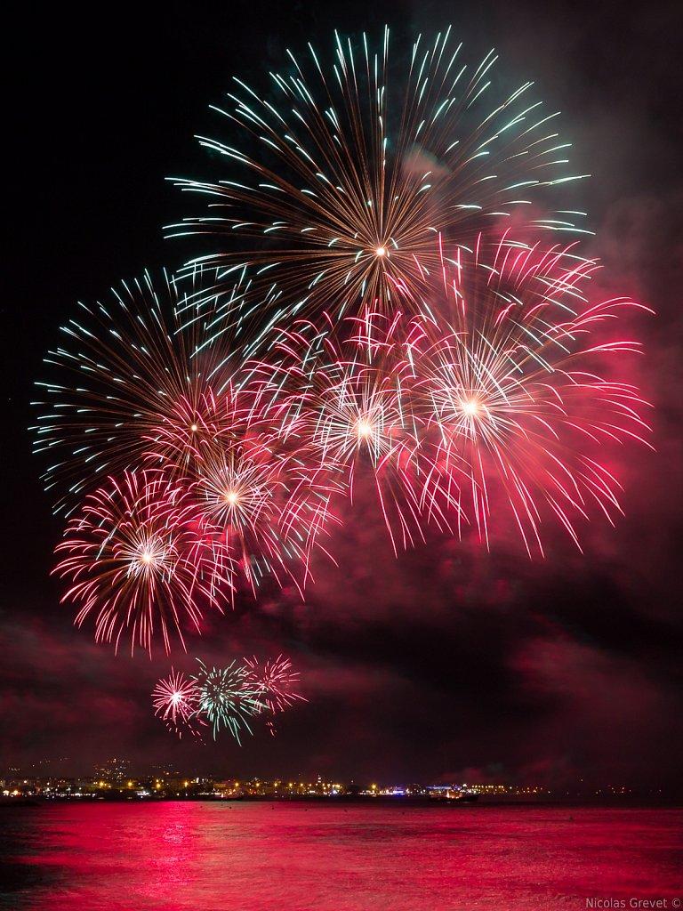 Cagnes-sur-Mer fireworks show