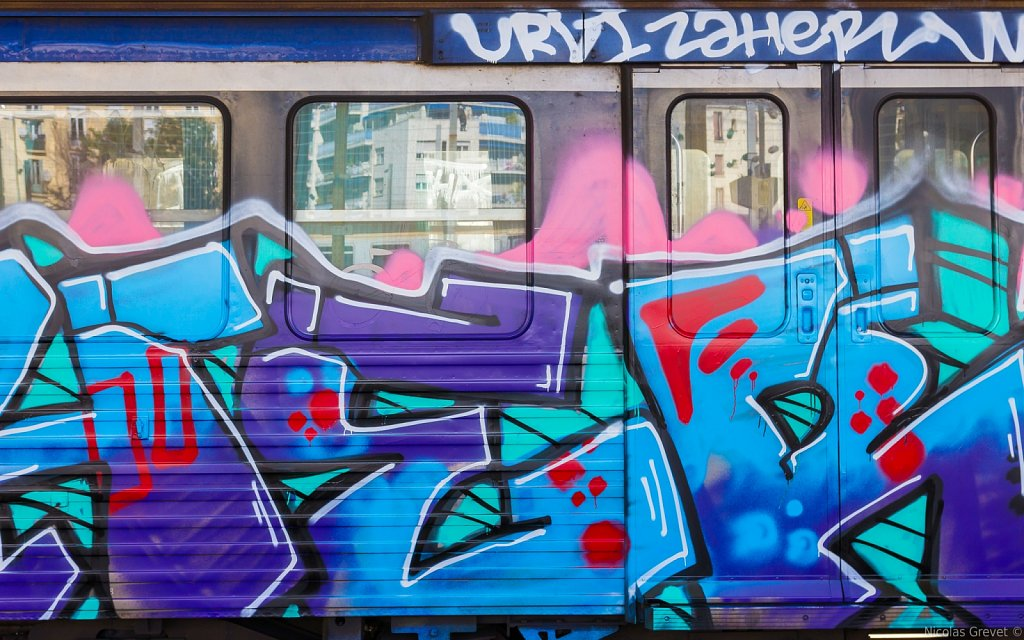 Colored Railcar